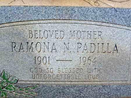 PADILLA, RAMONA N. - Pima County, Arizona | RAMONA N. PADILLA - Arizona Gravestone Photos