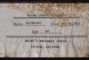 PANKRATZ, WILMA LURENE - Pima County, Arizona | WILMA LURENE PANKRATZ - Arizona Gravestone Photos