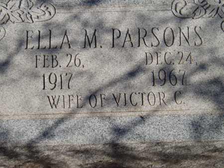 PARSONS, ELLA M. - Pima County, Arizona   ELLA M. PARSONS - Arizona Gravestone Photos