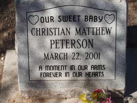 PETERSON, CHRISTIAN MATTHEW - Pima County, Arizona | CHRISTIAN MATTHEW PETERSON - Arizona Gravestone Photos
