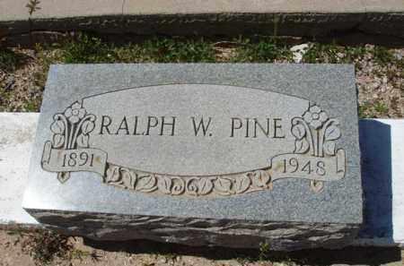 PINE, RALPH W. - Pima County, Arizona   RALPH W. PINE - Arizona Gravestone Photos