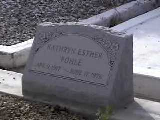 POHLE, KATHRYN ESTHER - Pima County, Arizona | KATHRYN ESTHER POHLE - Arizona Gravestone Photos