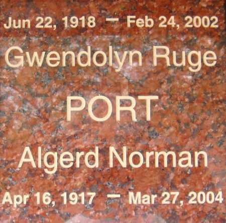 PORT, GWENDOLYN - Pima County, Arizona   GWENDOLYN PORT - Arizona Gravestone Photos