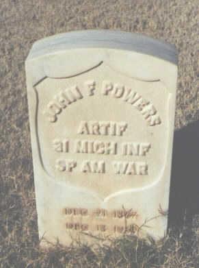 POWERS, JOHN F. - Pima County, Arizona   JOHN F. POWERS - Arizona Gravestone Photos