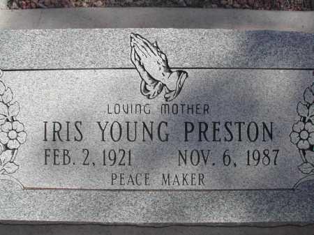 PRESTON, IRIS YOUNG - Pima County, Arizona | IRIS YOUNG PRESTON - Arizona Gravestone Photos