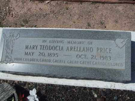 ARELLANO PRICE, MARY TEODOCIA - Pima County, Arizona | MARY TEODOCIA ARELLANO PRICE - Arizona Gravestone Photos