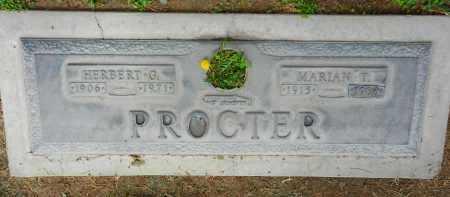 PROCTER, HERBERT G. - Pima County, Arizona | HERBERT G. PROCTER - Arizona Gravestone Photos