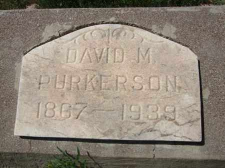 PURKERSON, DAVID M. - Pima County, Arizona | DAVID M. PURKERSON - Arizona Gravestone Photos
