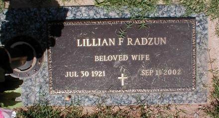 RADZUN, LILIAN F. - Pima County, Arizona | LILIAN F. RADZUN - Arizona Gravestone Photos