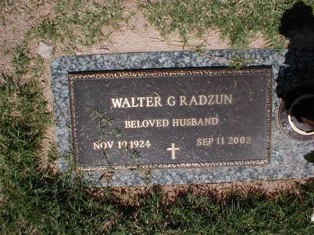 RADZUN, WALTER G. - Pima County, Arizona   WALTER G. RADZUN - Arizona Gravestone Photos