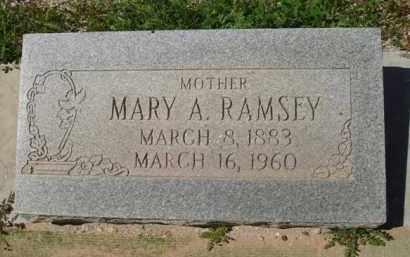RAMSEY, MARY A. - Pima County, Arizona | MARY A. RAMSEY - Arizona Gravestone Photos