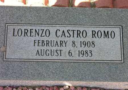 ROMO, LORENZO CASTRO - Pima County, Arizona | LORENZO CASTRO ROMO - Arizona Gravestone Photos