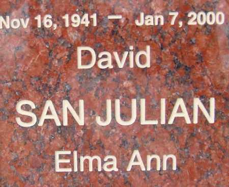 SAN JULIAN, DAVID - Pima County, Arizona | DAVID SAN JULIAN - Arizona Gravestone Photos