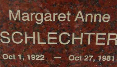 SCHLECHTER, MARGARET ANNE - Pima County, Arizona | MARGARET ANNE SCHLECHTER - Arizona Gravestone Photos