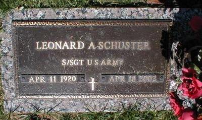 SCHUSTER, LEONARD A. - Pima County, Arizona | LEONARD A. SCHUSTER - Arizona Gravestone Photos