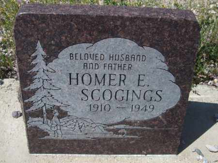 SCOGINGS, HOMER E. - Pima County, Arizona | HOMER E. SCOGINGS - Arizona Gravestone Photos