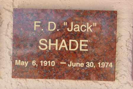 SHADE, FORREST D. - Pima County, Arizona | FORREST D. SHADE - Arizona Gravestone Photos