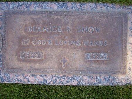 SNOW, BERNICE R - Pima County, Arizona   BERNICE R SNOW - Arizona Gravestone Photos