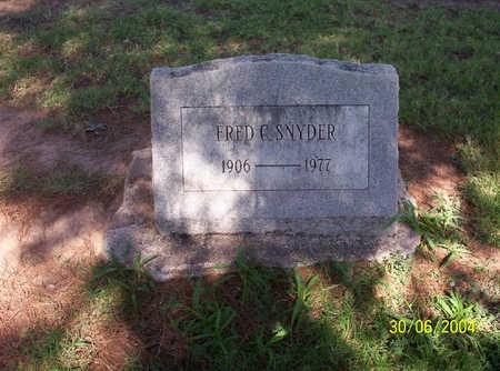 SNYDER, FRED - Pima County, Arizona | FRED SNYDER - Arizona Gravestone Photos