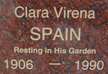 SPAIN, CLARA VIRENA - Pima County, Arizona | CLARA VIRENA SPAIN - Arizona Gravestone Photos