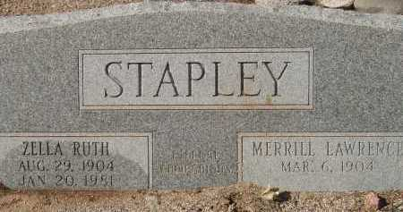 STAPLEY, MERRILL LAWRENCE - Pima County, Arizona | MERRILL LAWRENCE STAPLEY - Arizona Gravestone Photos