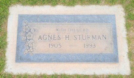 STURMAN, AGNES H. - Pima County, Arizona | AGNES H. STURMAN - Arizona Gravestone Photos