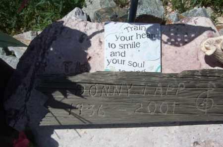 TAPP, DONNY - Pima County, Arizona | DONNY TAPP - Arizona Gravestone Photos