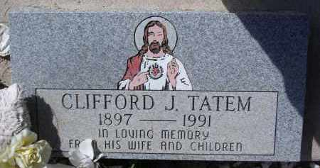 TATEM, CLIFFORD J. - Pima County, Arizona | CLIFFORD J. TATEM - Arizona Gravestone Photos