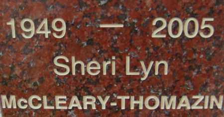MCCLEARY THOMAZIN, SHERI LYN - Pima County, Arizona | SHERI LYN MCCLEARY THOMAZIN - Arizona Gravestone Photos