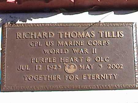 TILLIS, RICHARD THOMAS - Pima County, Arizona | RICHARD THOMAS TILLIS - Arizona Gravestone Photos