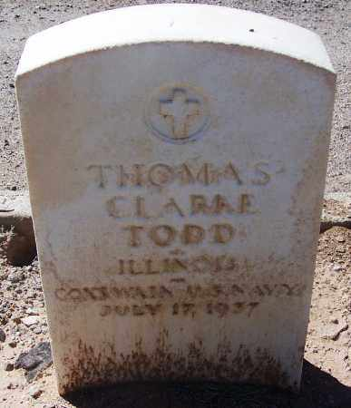 TODD, THOMAS CLARKE - Pima County, Arizona | THOMAS CLARKE TODD - Arizona Gravestone Photos