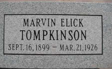 TOMPKINSON, MARVIN ELICK - Pima County, Arizona   MARVIN ELICK TOMPKINSON - Arizona Gravestone Photos