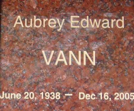 VANN, AUBREY EDWARD - Pima County, Arizona | AUBREY EDWARD VANN - Arizona Gravestone Photos