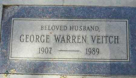 VEITCH, GEORGE WARREN - Pima County, Arizona | GEORGE WARREN VEITCH - Arizona Gravestone Photos