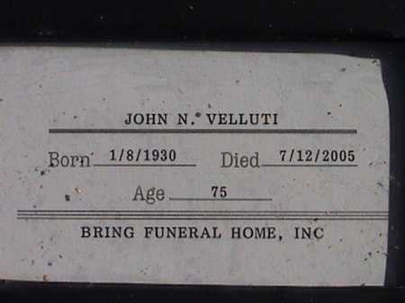 VELLUTI, JOHN N. - Pima County, Arizona | JOHN N. VELLUTI - Arizona Gravestone Photos