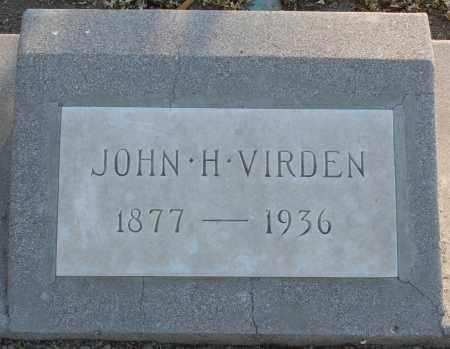 VIRDEN, JOHN H. - Pima County, Arizona | JOHN H. VIRDEN - Arizona Gravestone Photos
