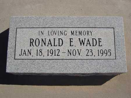 WADE, RONALD E. - Pima County, Arizona | RONALD E. WADE - Arizona Gravestone Photos