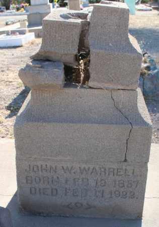 WARRELL, JOHN W. - Pima County, Arizona | JOHN W. WARRELL - Arizona Gravestone Photos