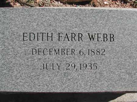 WEBB, EDITH FARR - Pima County, Arizona   EDITH FARR WEBB - Arizona Gravestone Photos