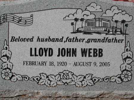 WEBB, LLOYD JOHN - Pima County, Arizona | LLOYD JOHN WEBB - Arizona Gravestone Photos