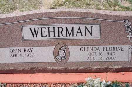 WEHRMAN, GLENDA FLORINE - Pima County, Arizona | GLENDA FLORINE WEHRMAN - Arizona Gravestone Photos