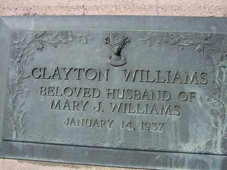 WILLIAMS, CLAYTON - Pima County, Arizona   CLAYTON WILLIAMS - Arizona Gravestone Photos