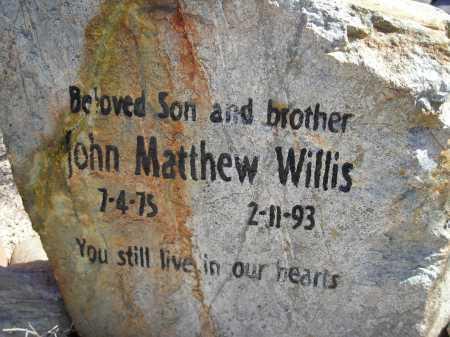 WILLIS, JOHN MATTHEW - Pima County, Arizona | JOHN MATTHEW WILLIS - Arizona Gravestone Photos