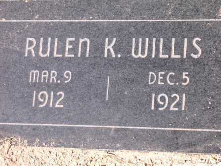 WILLIS, RULEN K. - Pima County, Arizona   RULEN K. WILLIS - Arizona Gravestone Photos
