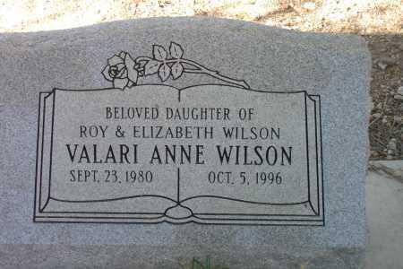 WILSON, VALARI ANNE - Pima County, Arizona | VALARI ANNE WILSON - Arizona Gravestone Photos