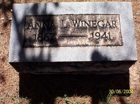 WINEGAR, ANNA - Pima County, Arizona | ANNA WINEGAR - Arizona Gravestone Photos