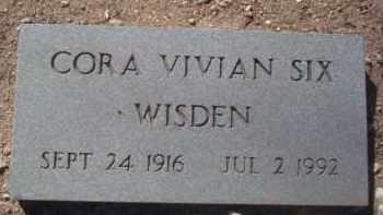 SIX WISDEN, CORA VIVIAN - Pima County, Arizona | CORA VIVIAN SIX WISDEN - Arizona Gravestone Photos