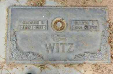 WITZ, GEORGE E. - Pima County, Arizona | GEORGE E. WITZ - Arizona Gravestone Photos