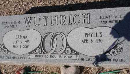 WUTHRICH, PHYLLIS - Pima County, Arizona | PHYLLIS WUTHRICH - Arizona Gravestone Photos