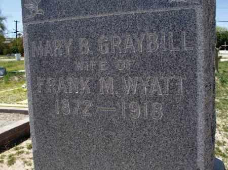WYATT, MARY B. - Pima County, Arizona | MARY B. WYATT - Arizona Gravestone Photos
